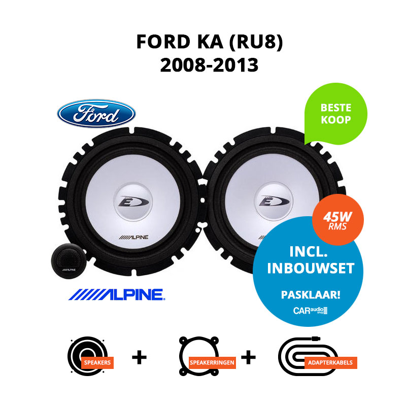 Budget speakers voor Ford Ka 2008 2013 (RU8)