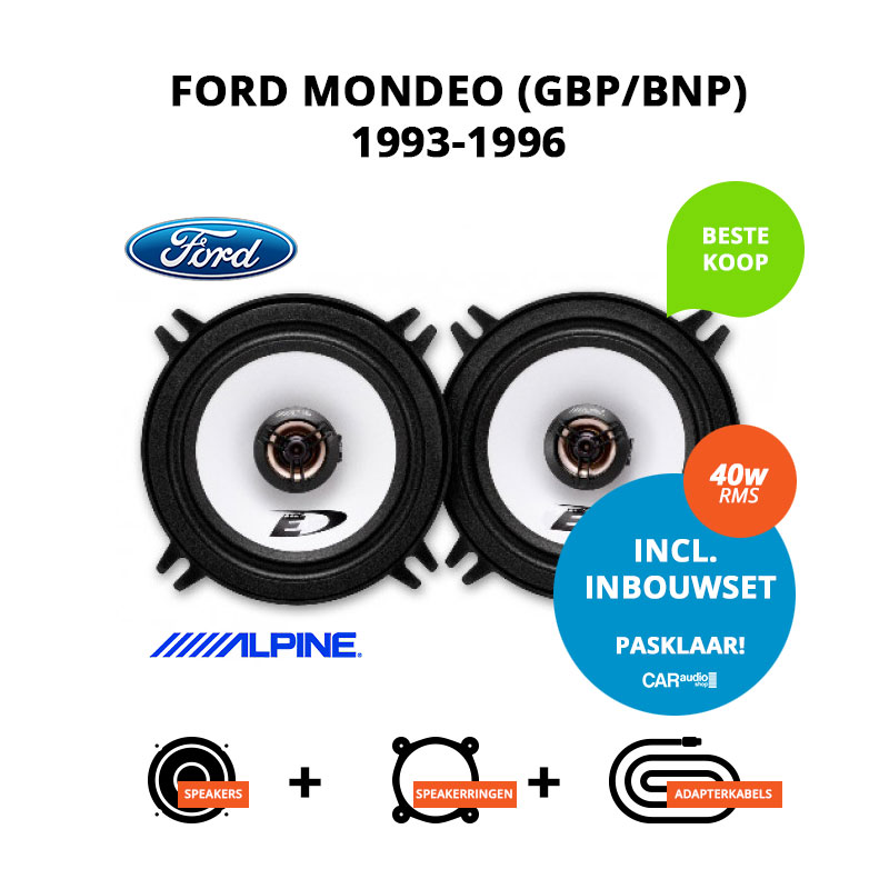 Budget speakers voor Ford Mondeo 1993 1996 (GBP BNP)