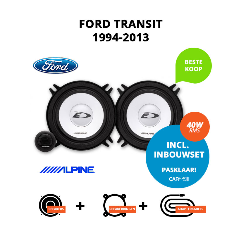 Budget speakers voor Ford Transit 1994 2013