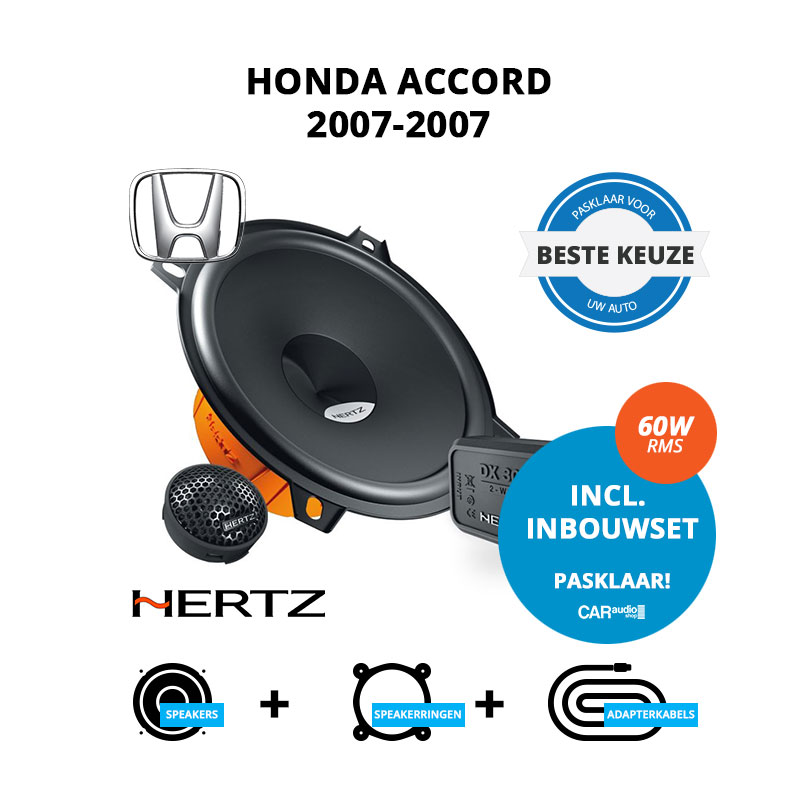 Beste speakers voor Honda Accord 2007 2007