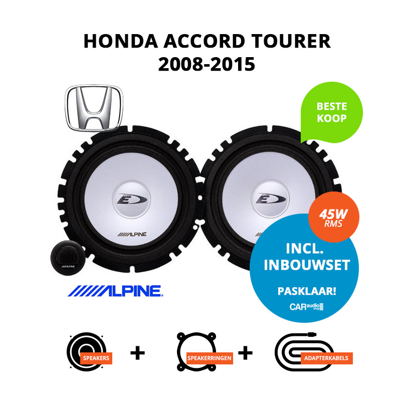 Budget speakers voor Honda Accord Tourer 2008 2015
