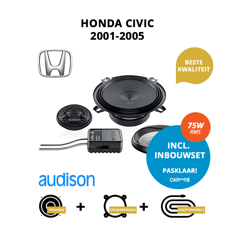Premium speakers voor Honda Civic 2001 2005