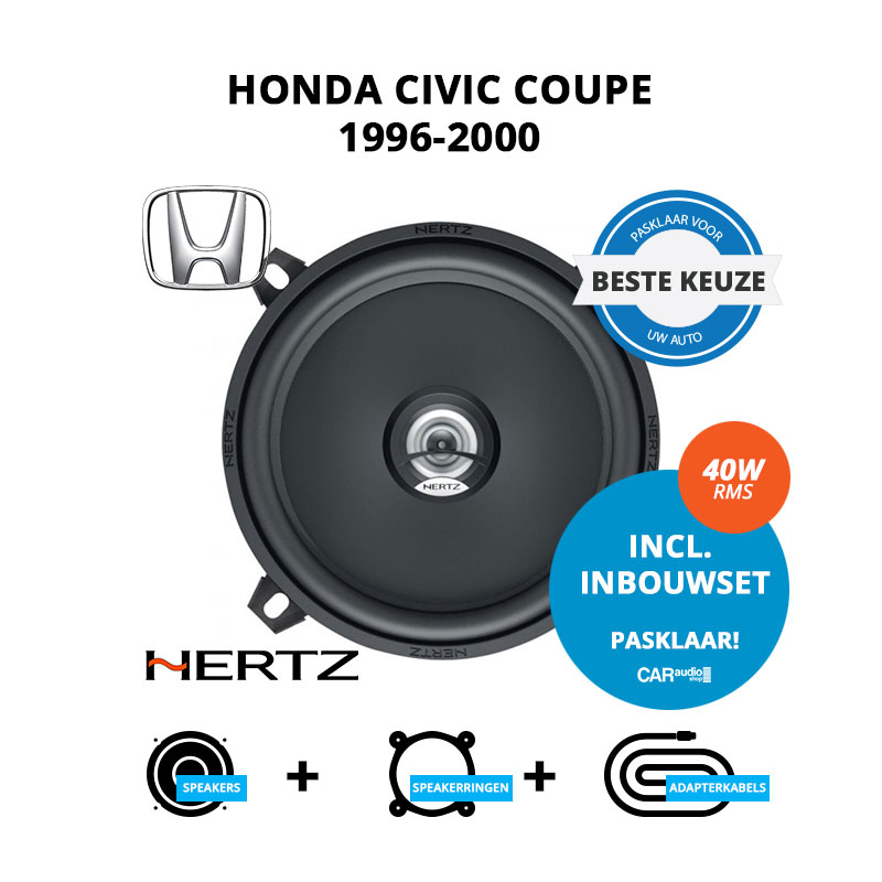 Beste speakers voor Honda Civic Coupe 1996 2000