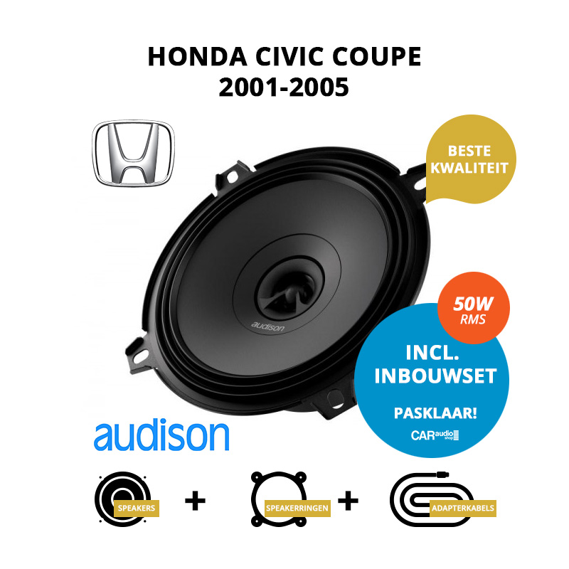 Premium speakers voor Honda Civic Coupe 2001 2005