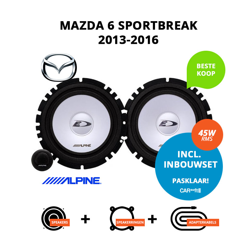 Budget speakers voor Mazda 6 SportBreak 2013 2016