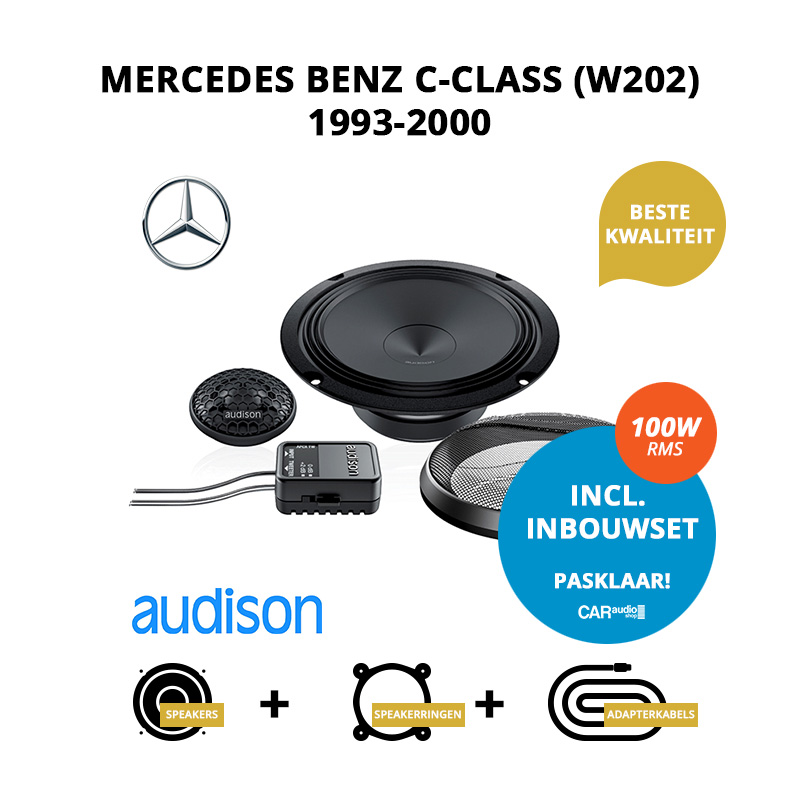 Premium speakers voor Mercedes Benz C Class (W202) 1993 2000