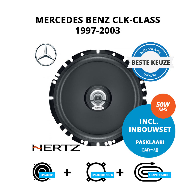 Beste speakers voor Mercedes Benz CLK Class 1997 2003