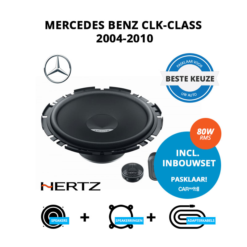 Beste speakers voor Mercedes Benz CLK Class 2004 2010