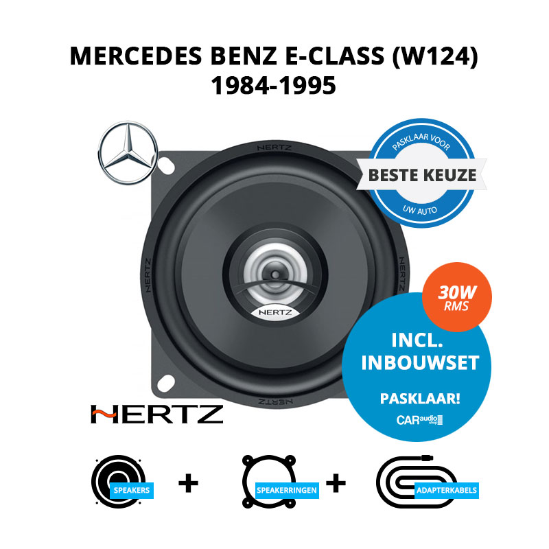 Beste speakers voor Mercedes Benz E Class (W124) 1984 1995