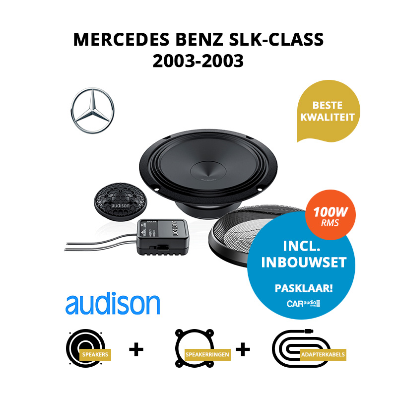 Premium speakers voor Mercedes Benz SLK Class 2003 2003