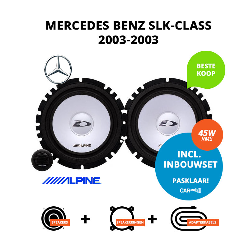 Budget speakers voor Mercedes Benz SLK Class 2003 2003