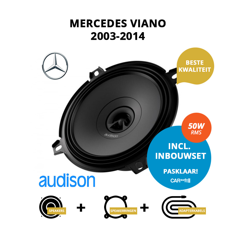 Premium speakers voor Mercedes Viano 2003 2014