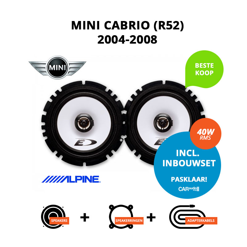 Budget speakers voor Mini Cabrio 2004 2008 R52