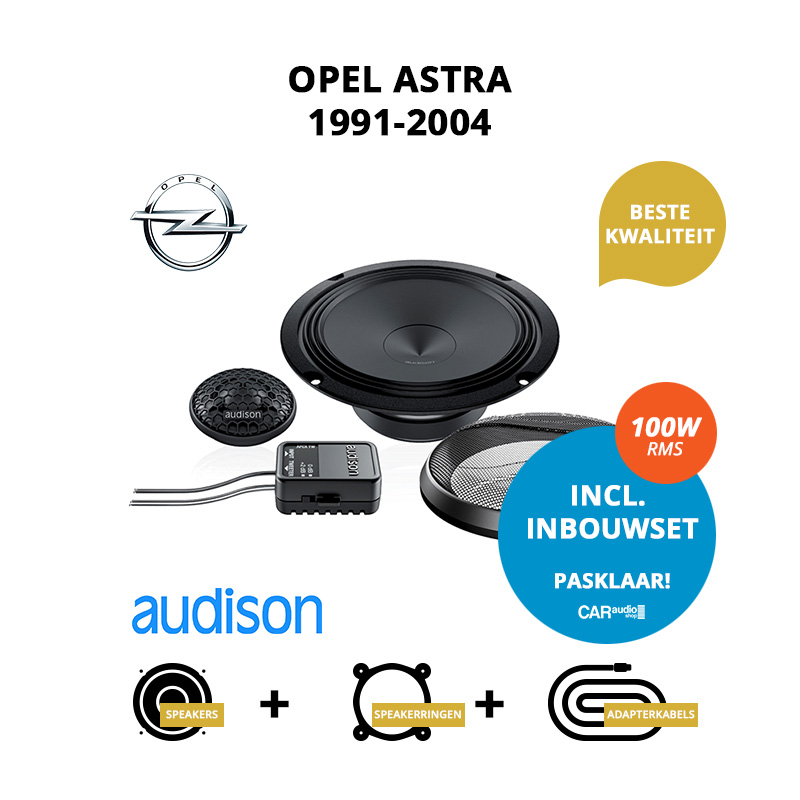 Premium speakers voor Opel Astra 1991 2004 Stationwagon