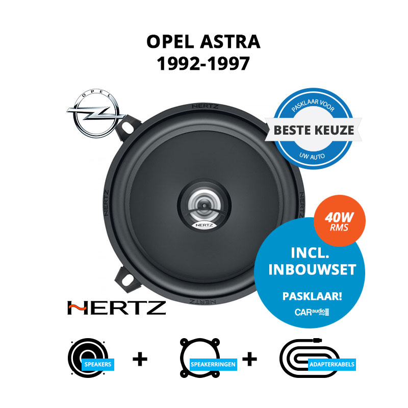 Beste speakers voor Opel Astra 1992 1997 Sedan