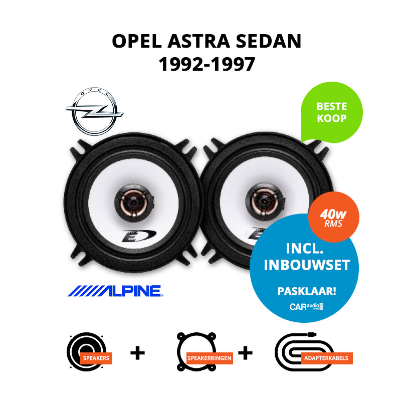 Budget speakers voor Opel Astra 1992 1997 Sedan