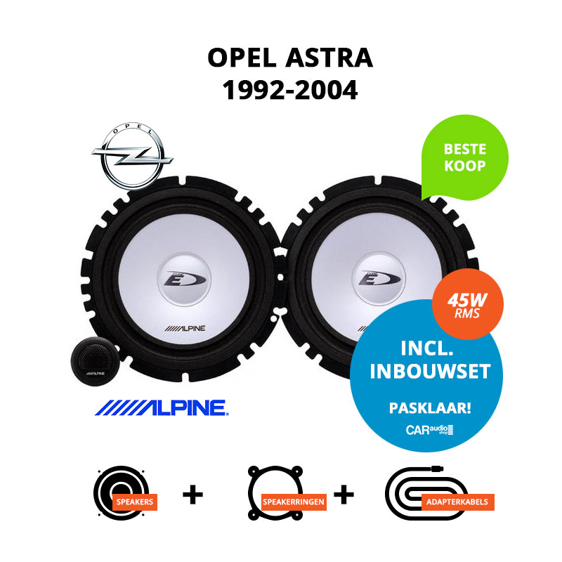Budget speakers voor Opel Astra 1992 2004 Sedan
