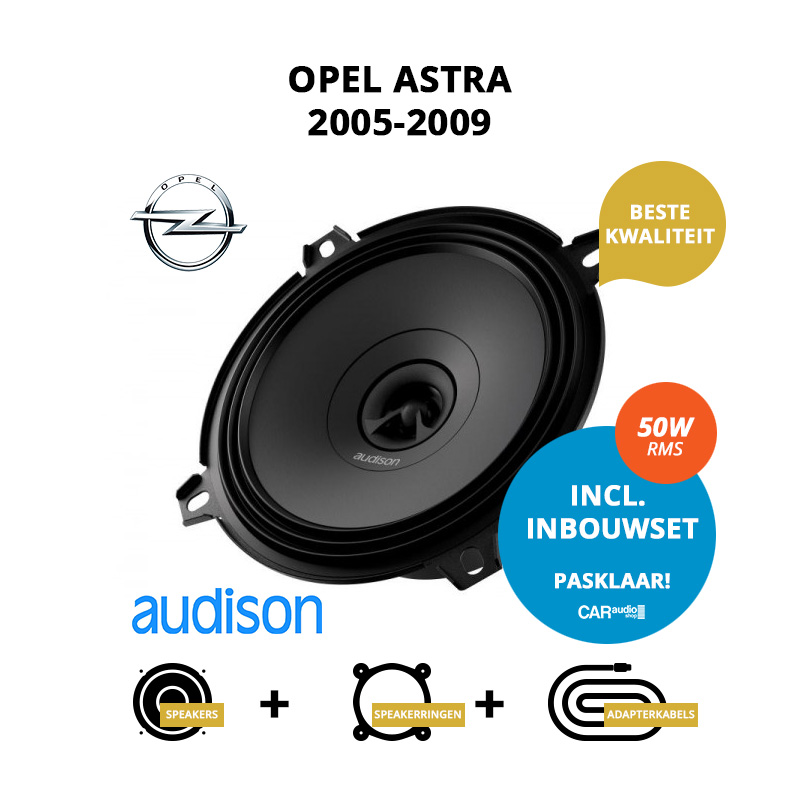 Premium speakers voor Opel Astra 2005 2009 Stationwagon