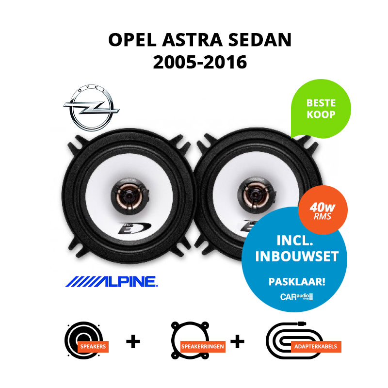 Budget speakers voor Opel Astra 2005 2016 Sedan