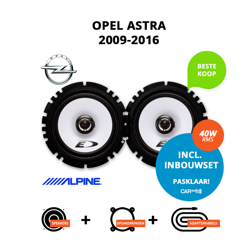 Budget speakers voor Opel Astra 2009 2016 Sedan