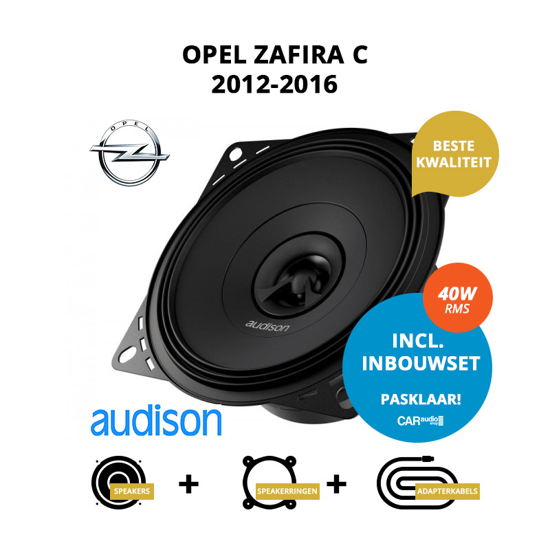 Premium speakers voor Opel Zafira C 2012 2016 Tourer