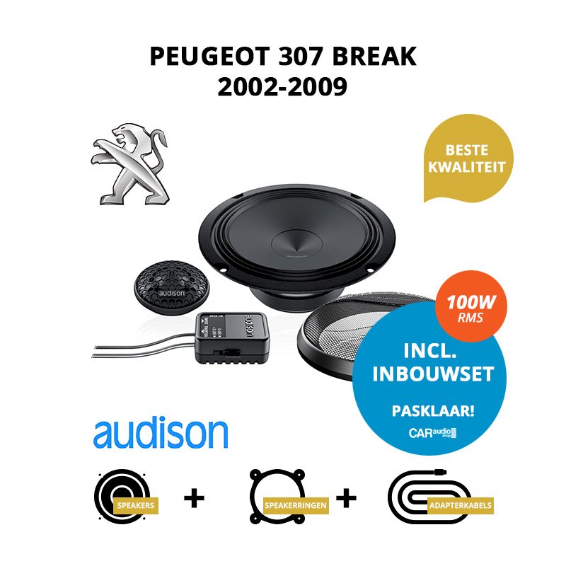 Premium speakers voor Peugeot 307 Break 2002 2009