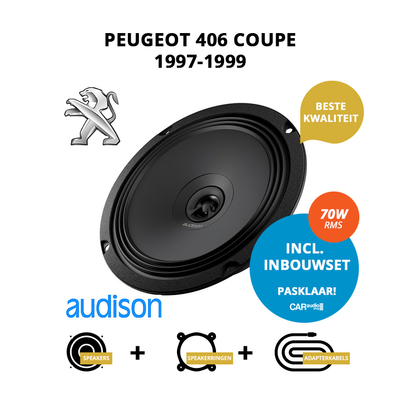 Premium speakers voor Peugeot 406 Coupe 1997 1999