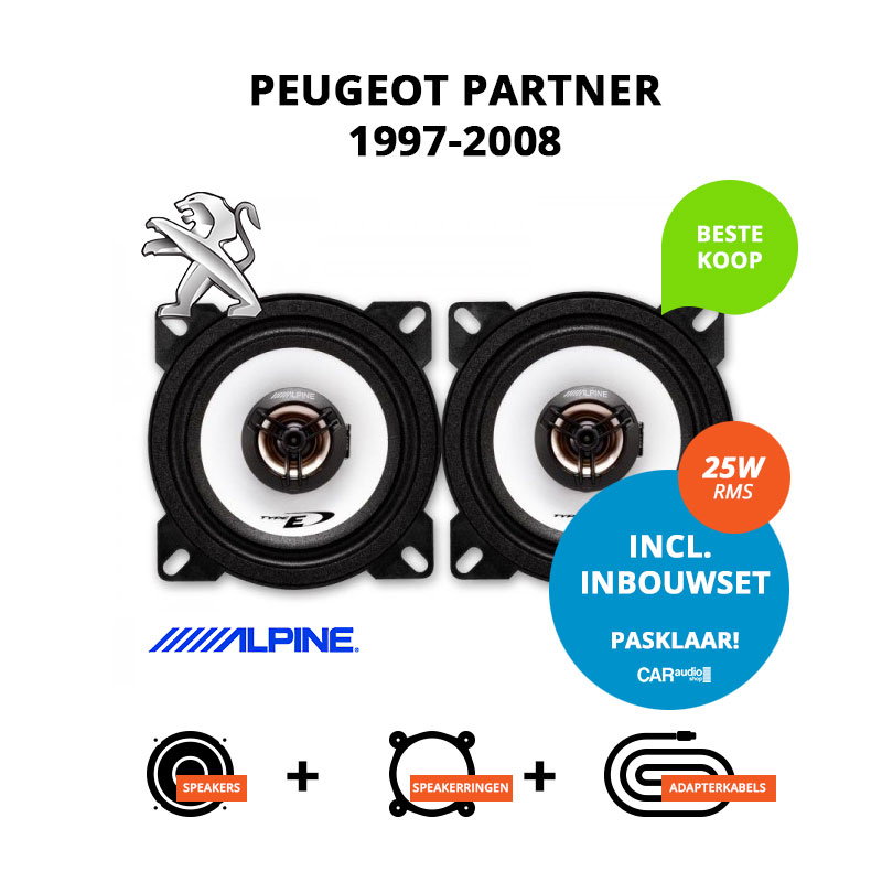Budget speakers voor Peugeot Partner 1997 2008