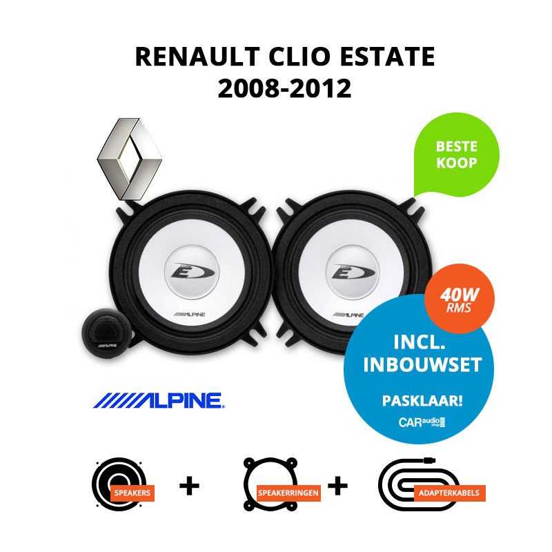 Budget speakers voor Renault Clio Estate 2008 2012