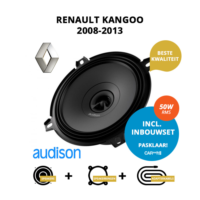 Premium speakers voor Renault Kangoo 2008 2013 Family