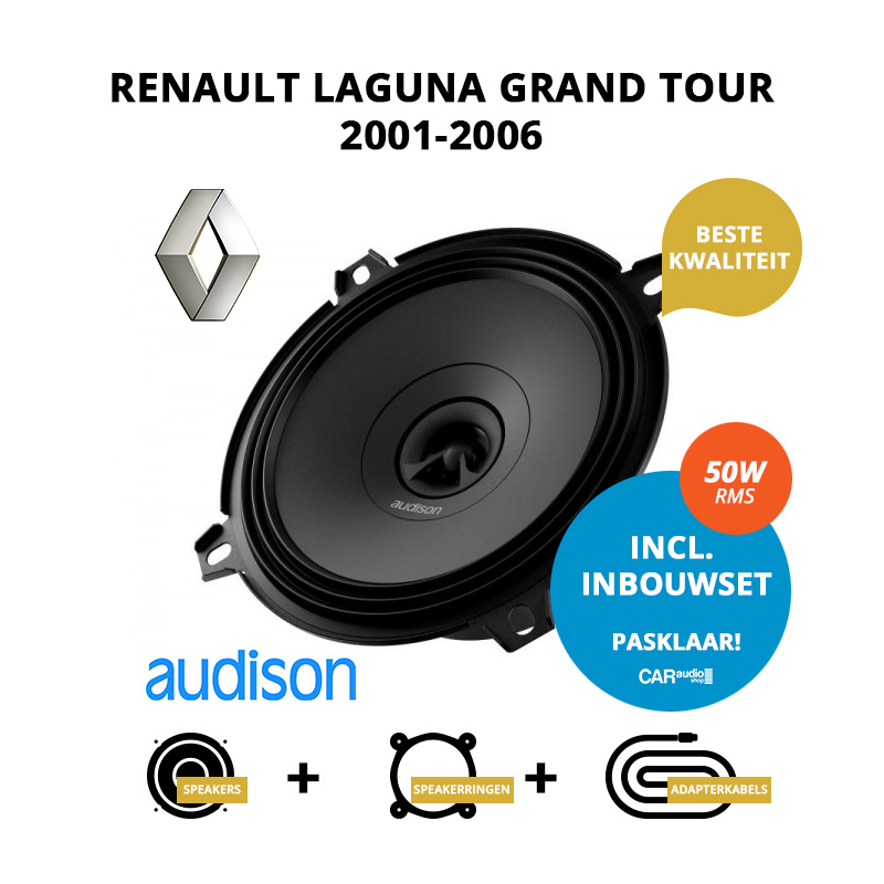 Premium speakers voor Renault Laguna Grand tour 2001 2006