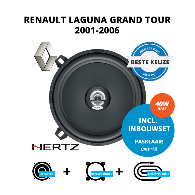 Beste speakers voor Renault Laguna Grand tour 2001 2006