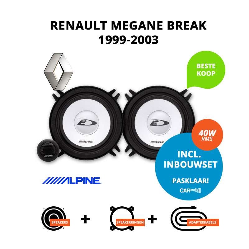 Budget speakers voor Renault Megane Break 1999 2003