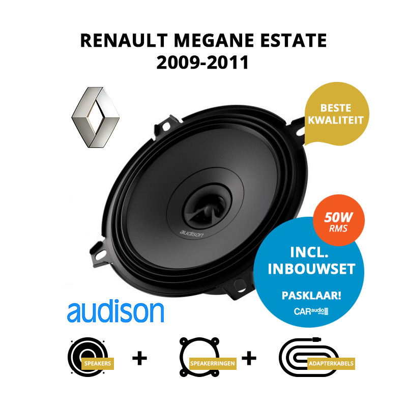 Premium speakers voor Renault Megane Estate 2009 2011