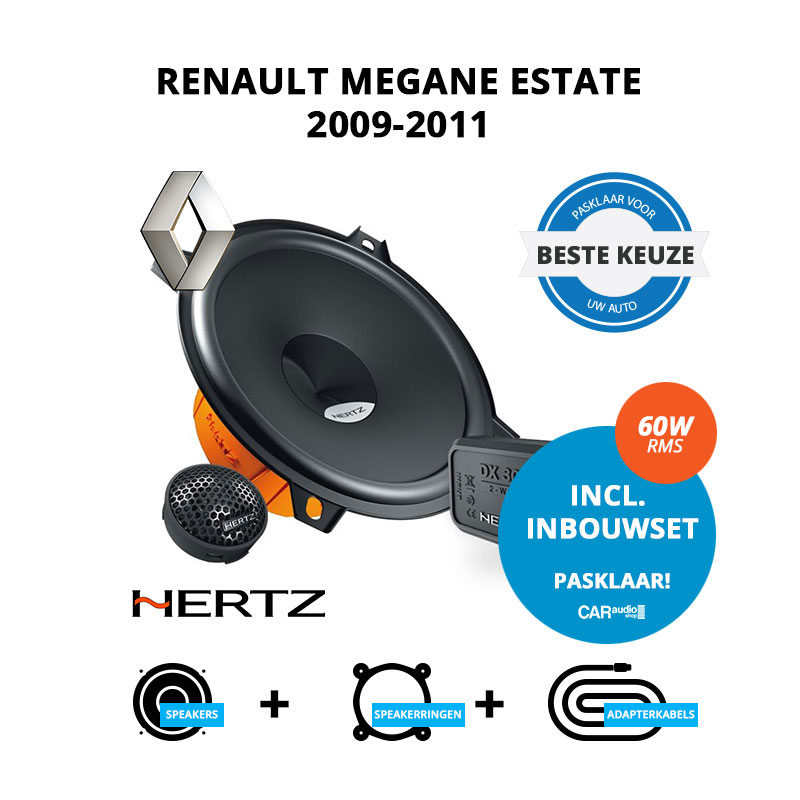 Beste speakers voor Renault Megane Estate 2009 2011