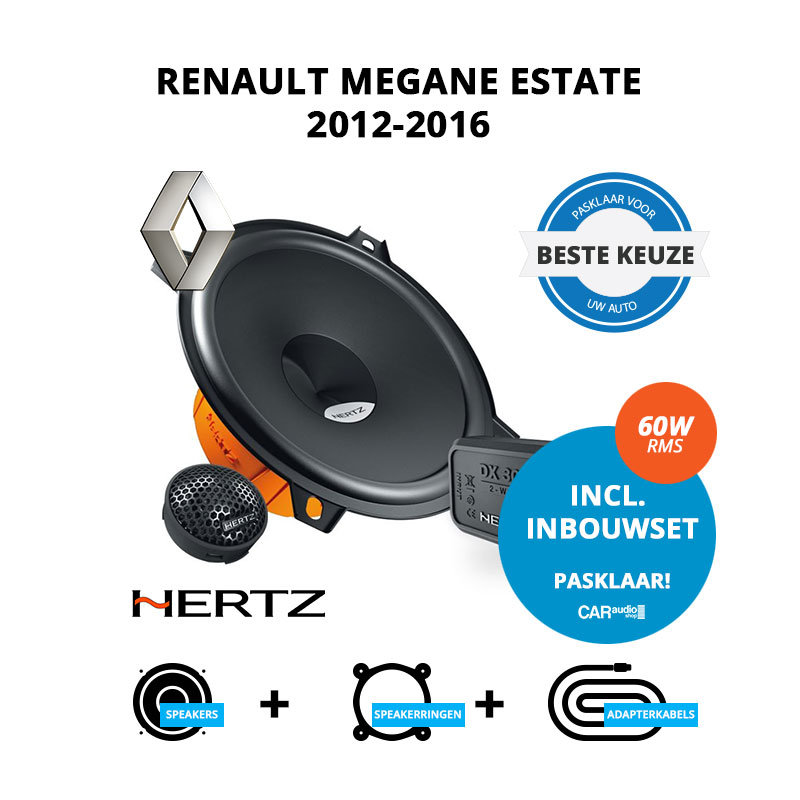 Beste speakers voor Renault Megane Estate 2012 2016