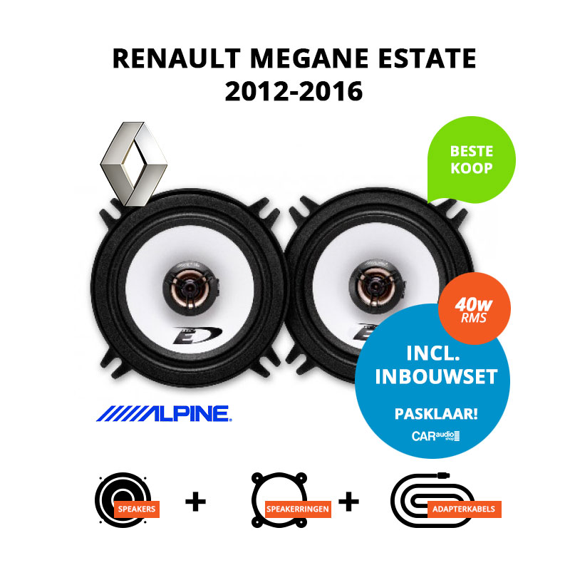 Budget speakers voor Renault Megane Estate 2012 2016