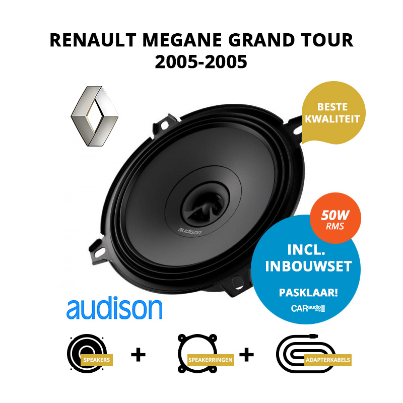 Premium speakers voor Renault Megane Grand Tour 2005 2005