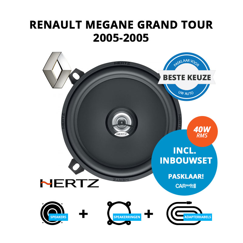Beste speakers voor Renault Megane Grand Tour 2005 2005