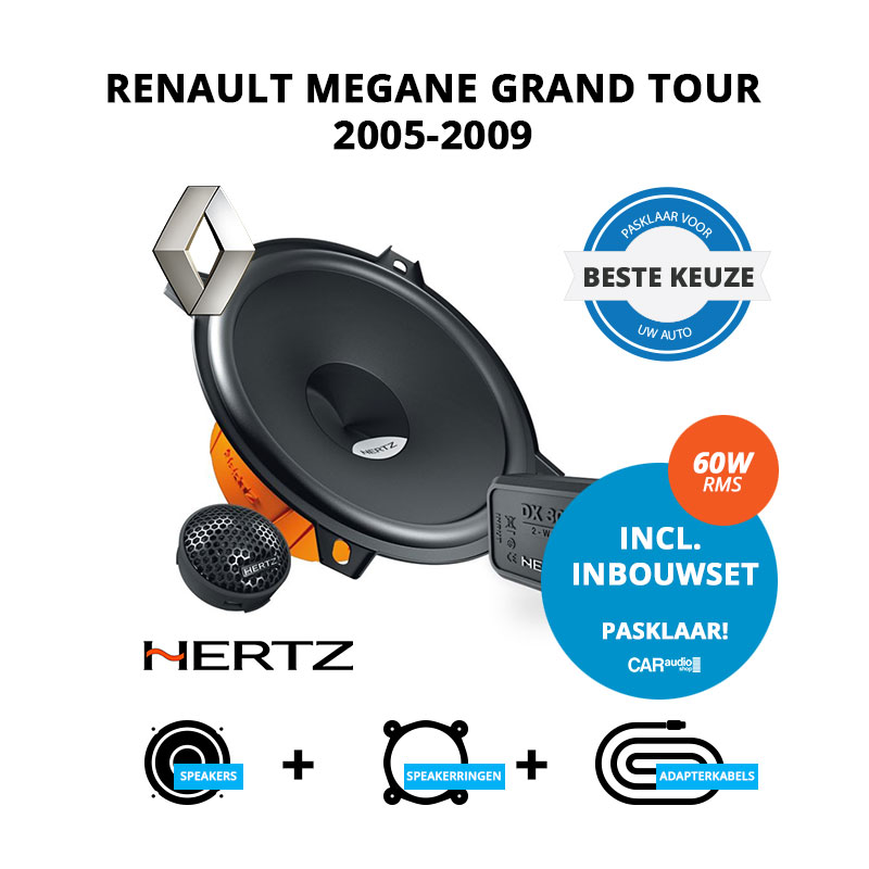 Beste speakers voor Renault Megane Grand Tour 2005 2009