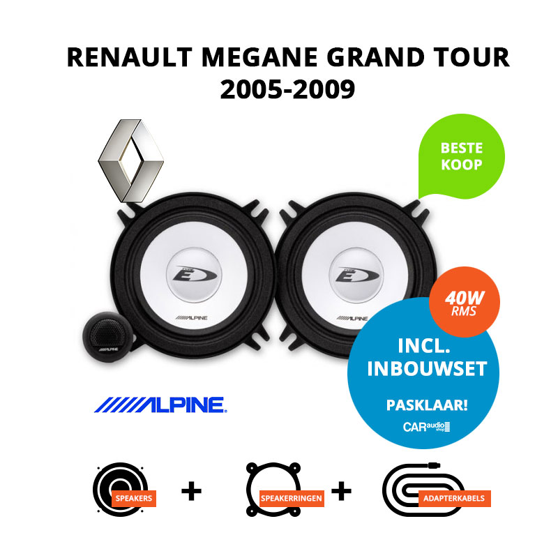 Budget speakers voor Renault Megane Grand Tour 2005 2009