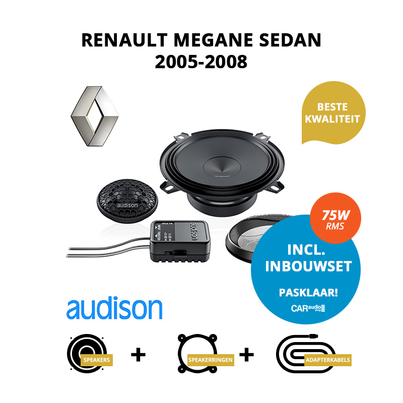 Premium speakers voor Renault Megane Sedan 2005 2008