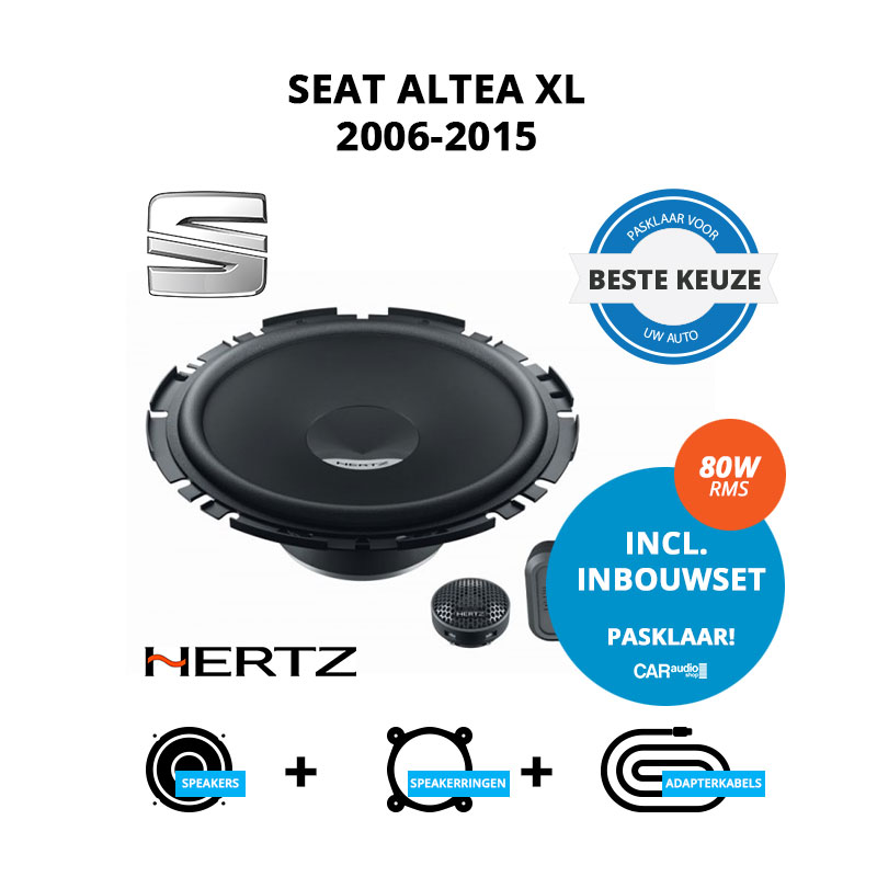 Beste speakers voor Seat Altea XL 2006 2015
