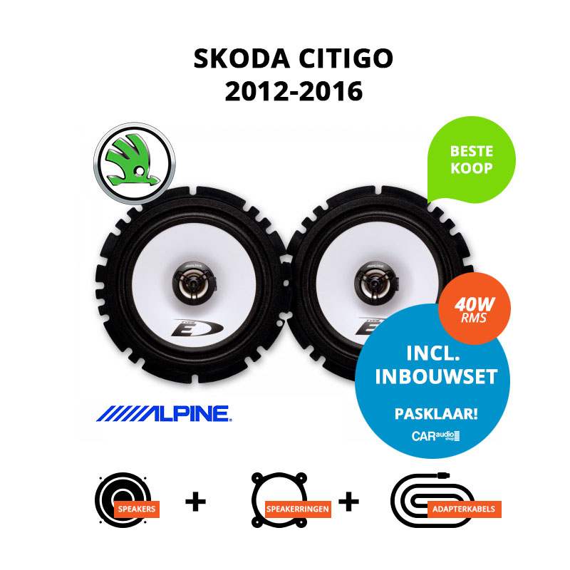 Budget speakers voor Skoda Citigo 2012 2016