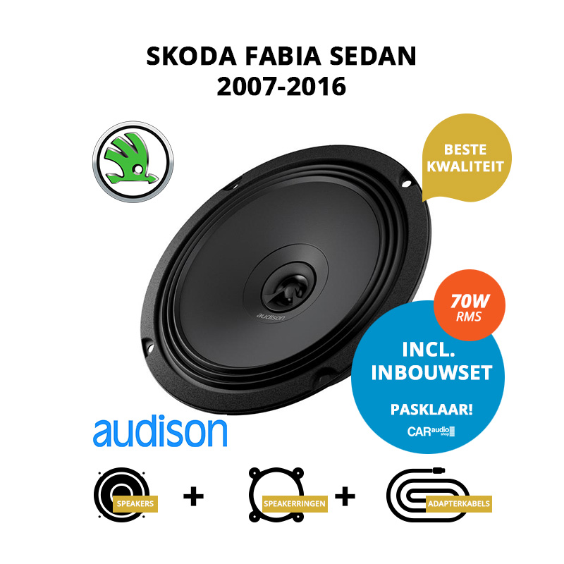 Premium speakers voor Skoda Fabia Sedan 2007 2016