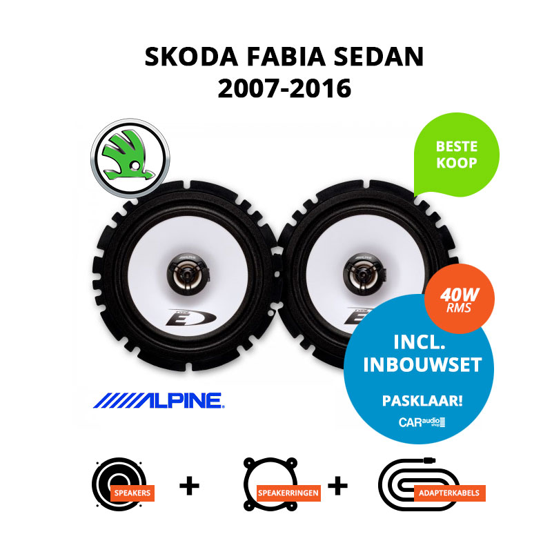 Budget speakers voor Skoda Fabia Sedan 2007 2016