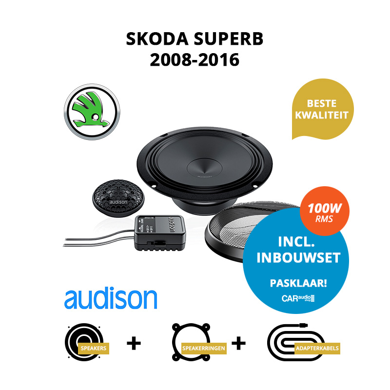 Premium speakers voor Skoda SuperB 2008 2016