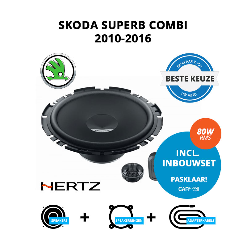 Beste speakers voor Skoda SuperB Combi 2010 2016