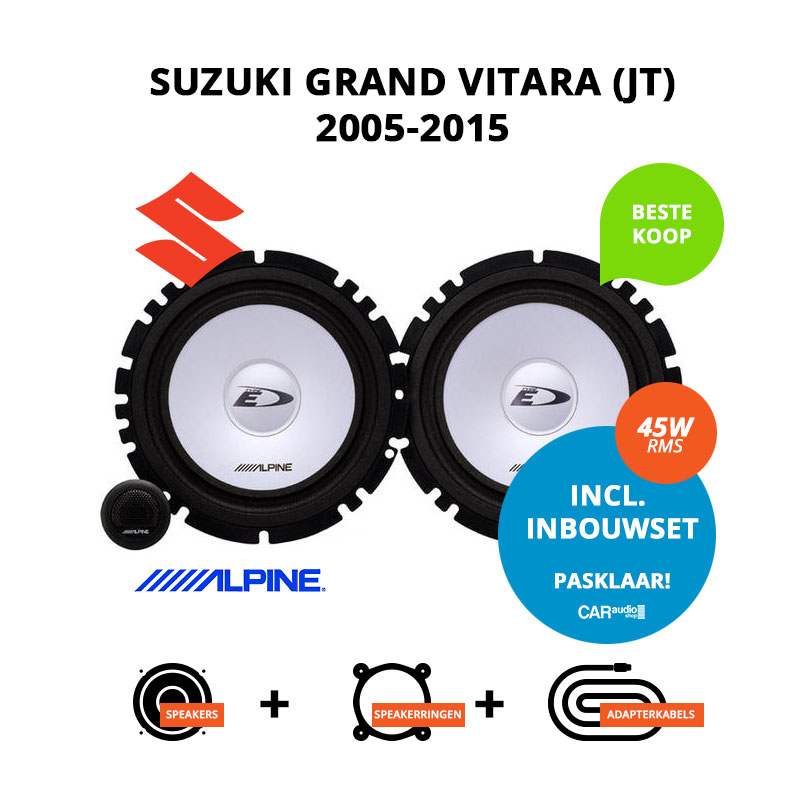 Budget speakers voor Suzuki Grand Vitara (JT) 2005 2015