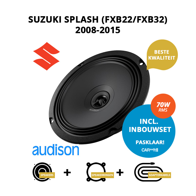 Premium speakers voor Suzuki Splash 2008 2015 (FXB22 FXB32)